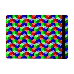 Seamless Rgb Isometric Cubes Pattern Apple Ipad Mini Flip Case