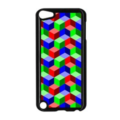 Seamless Rgb Isometric Cubes Pattern Apple iPod Touch 5 Case (Black)