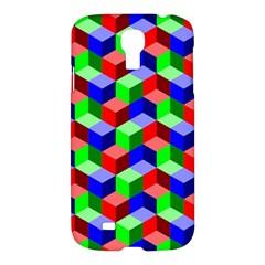 Seamless Rgb Isometric Cubes Pattern Samsung Galaxy S4 I9500/I9505 Hardshell Case