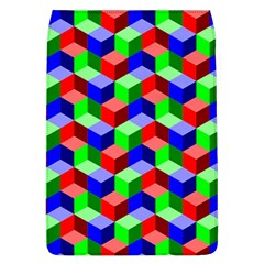 Seamless Rgb Isometric Cubes Pattern Flap Covers (L)