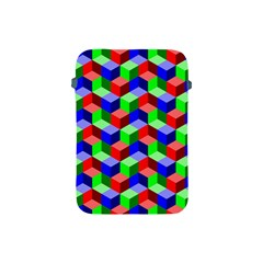 Seamless Rgb Isometric Cubes Pattern Apple Ipad Mini Protective Soft Cases