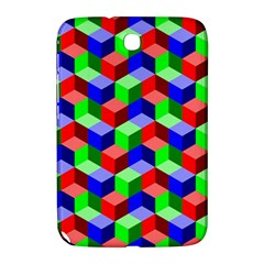 Seamless Rgb Isometric Cubes Pattern Samsung Galaxy Note 8 0 N5100 Hardshell Case