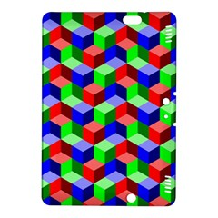 Seamless Rgb Isometric Cubes Pattern Kindle Fire Hdx 8 9  Hardshell Case