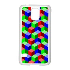 Seamless Rgb Isometric Cubes Pattern Samsung Galaxy S5 Case (White)