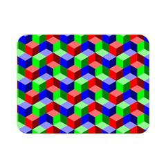Seamless Rgb Isometric Cubes Pattern Double Sided Flano Blanket (mini)