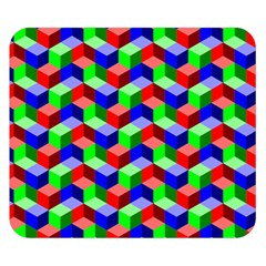 Seamless Rgb Isometric Cubes Pattern Double Sided Flano Blanket (Small)