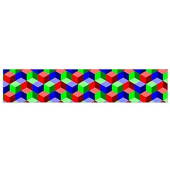 Seamless Rgb Isometric Cubes Pattern Flano Scarf (small)