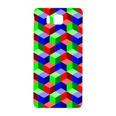 Seamless Rgb Isometric Cubes Pattern Samsung Galaxy Alpha Hardshell Back Case