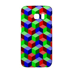 Seamless Rgb Isometric Cubes Pattern Galaxy S6 Edge