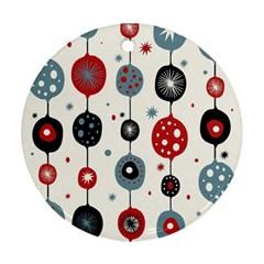 Retro Ornament Pattern Ornament (round)
