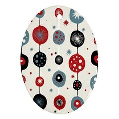 Retro Ornament Pattern Ornament (oval)