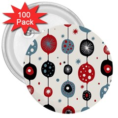Retro Ornament Pattern 3  Buttons (100 Pack)