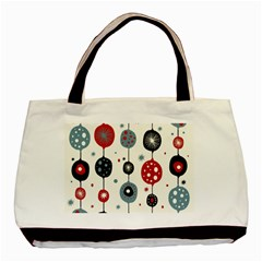 Retro Ornament Pattern Basic Tote Bag (two Sides)
