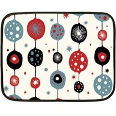 Retro Ornament Pattern Double Sided Fleece Blanket (mini)