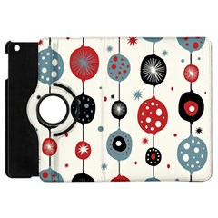 Retro Ornament Pattern Apple Ipad Mini Flip 360 Case