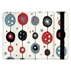 Retro Ornament Pattern Samsung Galaxy Tab Pro 12 2  Flip Case