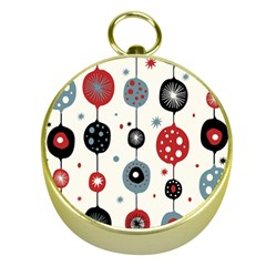 Retro Ornament Pattern Gold Compasses