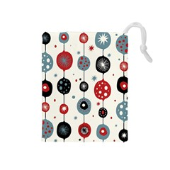 Retro Ornament Pattern Drawstring Pouches (medium)