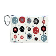 Retro Ornament Pattern Canvas Cosmetic Bag (M)