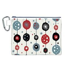 Retro Ornament Pattern Canvas Cosmetic Bag (l)