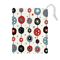 Retro Ornament Pattern Drawstring Pouches (Extra Large)