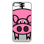 Pork Pig Pink Animals Apple iPhone 5 Case (Silver) Front