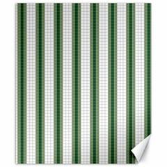 Plaid Line Green Line Vertical Canvas 8  x 10