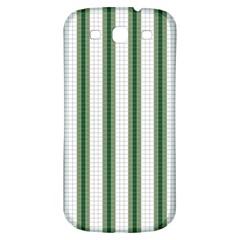 Plaid Line Green Line Vertical Samsung Galaxy S3 S III Classic Hardshell Back Case