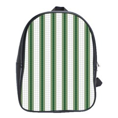 Plaid Line Green Line Vertical School Bags (XL)