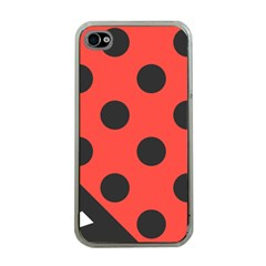 Red Black Hole White Line Wave Chevron Polka Circle Apple iPhone 4 Case (Clear)