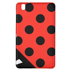 Red Black Hole White Line Wave Chevron Polka Circle Samsung Galaxy Tab Pro 8 4 Hardshell Case