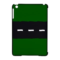 Road Street Green Black White Line Apple iPad Mini Hardshell Case (Compatible with Smart Cover)