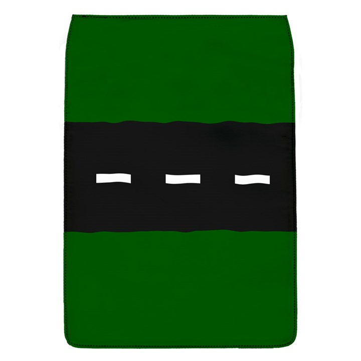 Road Street Green Black White Line Flap Covers (S)