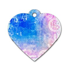 Horoscope Compatibility Love Romance Star Signs Zodiac Dog Tag Heart (Two Sides)