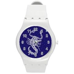 Scorpio Zodiac Star Round Plastic Sport Watch (M)