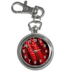 Red Space Line Light Black Polka Key Chain Watches