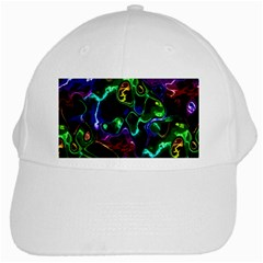 Saga Colors Rainbow Stone Blue Green Red Purple Space White Cap