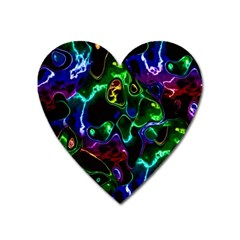 Saga Colors Rainbow Stone Blue Green Red Purple Space Heart Magnet