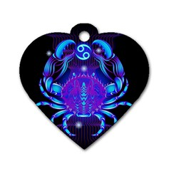 Sign Cancer Zodiac Dog Tag Heart (One Side)