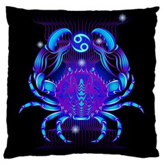 Sign Cancer Zodiac Standard Flano Cushion Case (Two Sides)
