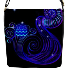 Sign Aquarius Zodiac Flap Messenger Bag (S)