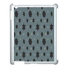Star Space Black Grey Blue Sky Apple Ipad 3/4 Case (white)