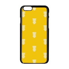 Waveform Disco Wahlin Retina White Yellow Vertical Apple Iphone 6/6s Black Enamel Case