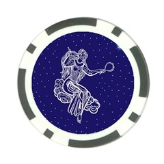 Virgo Zodiac Star Poker Chip Card Guard