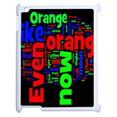 Writing Color Rainbow Apple Ipad 2 Case (white)