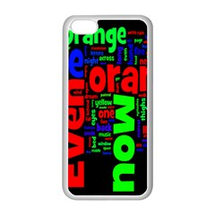 Writing Color Rainbow Apple iPhone 5C Seamless Case (White)