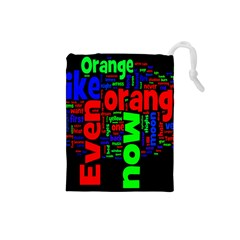 Writing Color Rainbow Drawstring Pouches (Small)