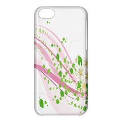 Sunflower Flower Floral Leaf Line Wave Chevron Pink Apple Iphone 5c Hardshell Case