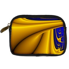 Waves Wave Chevron Gold Blue Paint Space Sky Digital Camera Cases