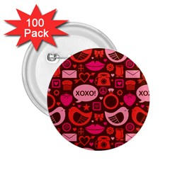 Xoxo! 2 25  Buttons (100 Pack)